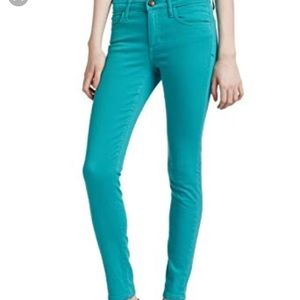 Joe's Jeans Teal High Rise Skinny Ankle Jeans